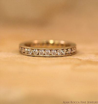 Diamond Eternity Band with Milgrain Edge