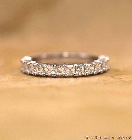 Asscher Cut Diamond Wedding Band