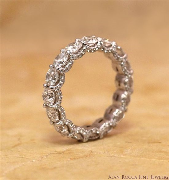 Brilliant Cut Diamond Eternity Band with Bead Set Diamond Gallery