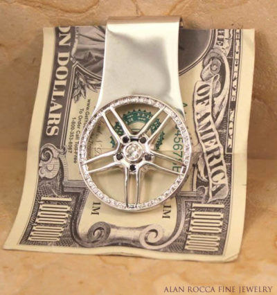 Diamond Money Clip with Black Diamond Accents