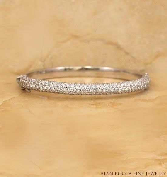 Pave Set Diamond Bangle Bracelet