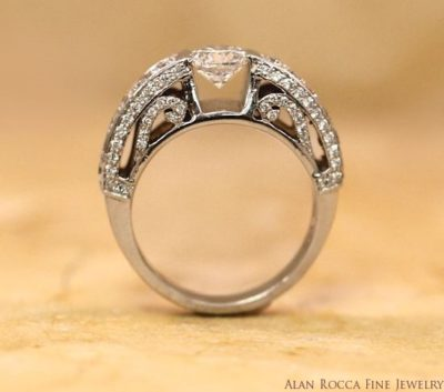 Brilliant Round Diamond Ring with Bead Set Gallery