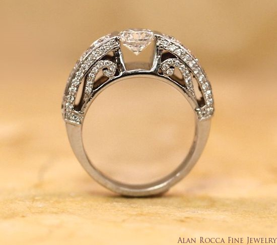 Brilliant Round Diamond Ring with Bead Set Gallery