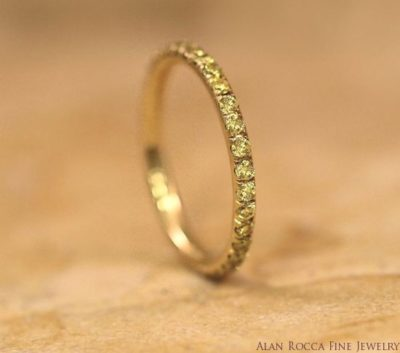 Fancy Yellow Round Cut Diamond Eternity Band