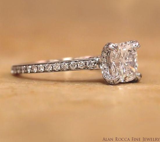 Brilliant Round Diamond Ring with Prong Set Halo