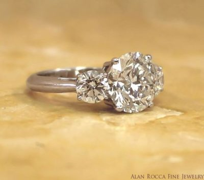 Classic Brilliant Round Diamond Three Stone Ring