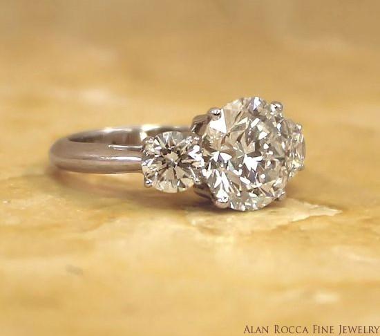 Classic Brilliant Round Diamond Three Stone Ring